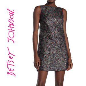 NWT Betsey Johnson Leopard Jacquard Shift Dress